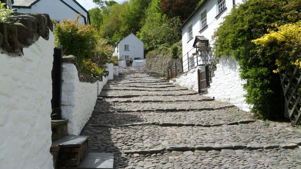 Clovelly is set into a steep hillside - one of the most famous villages in the world