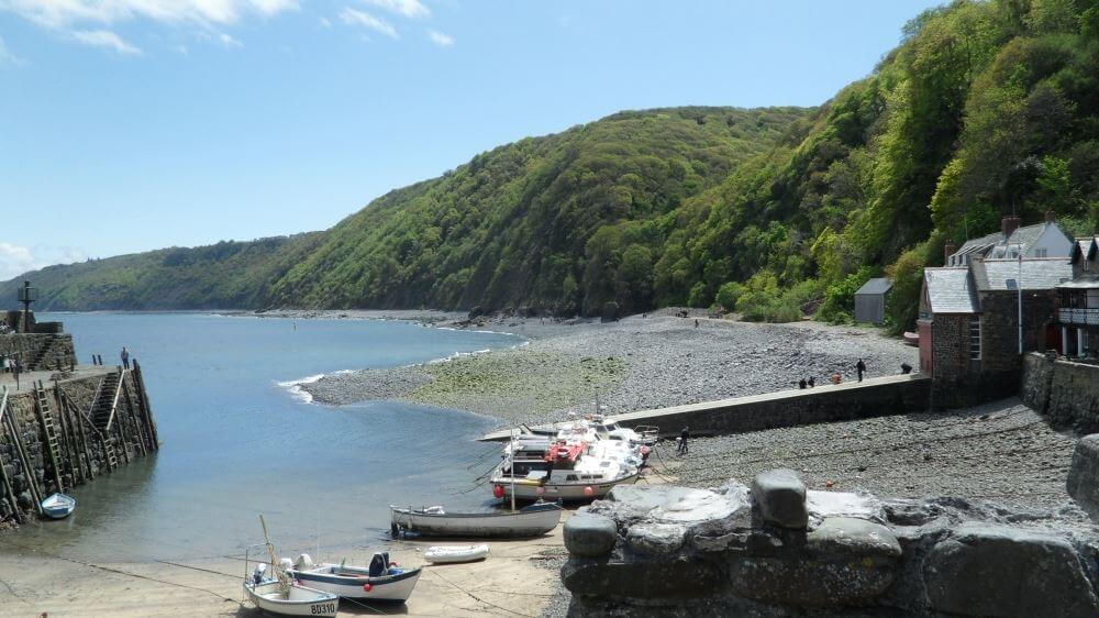 Lynmouth Harbour is a tidal haven, usually accessible around 1.5hrs either side of High Water