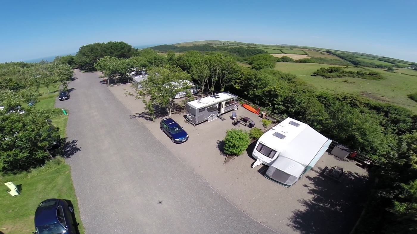 Camping and Caravans in Beautiful Coastal Countryside
